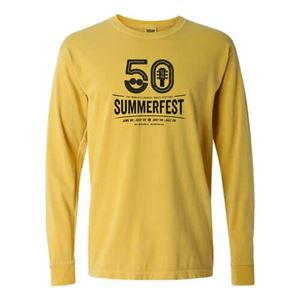 Picture of Summerfest 50th Vintage Gold Garment Dye Long Sleeve