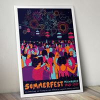 Picture of Limited edition Fireworks Poster by BlackPaint