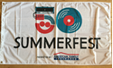 Picture of Summerfest 50th Logo Flag