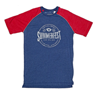 Picture of Blue/Chili Red Homer Raglan