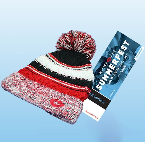 Picture of Summerfest Knit Pom Hat and Ticket Holiday Deal