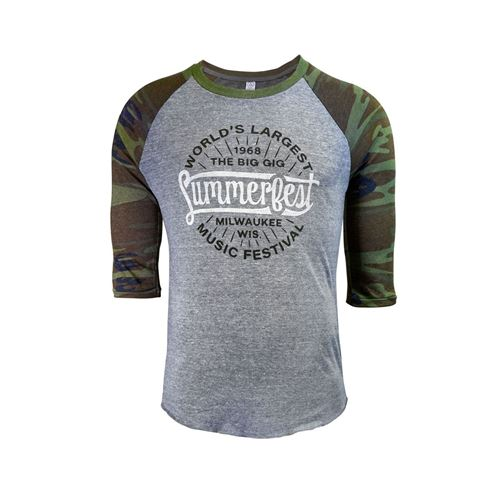 Picture of Camo Baseball Tee