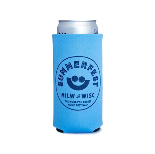 Picture of Light Blue Tall Boy Can Cooler