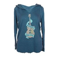 Picture of Slate Blue Electric Tunic Hoodie