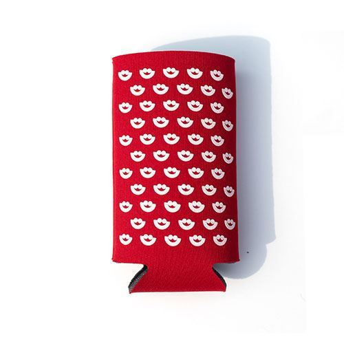 Picture of Red Tall Boy bottle Cooler